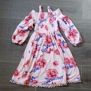 Other - Girl's soft smocked floral dress